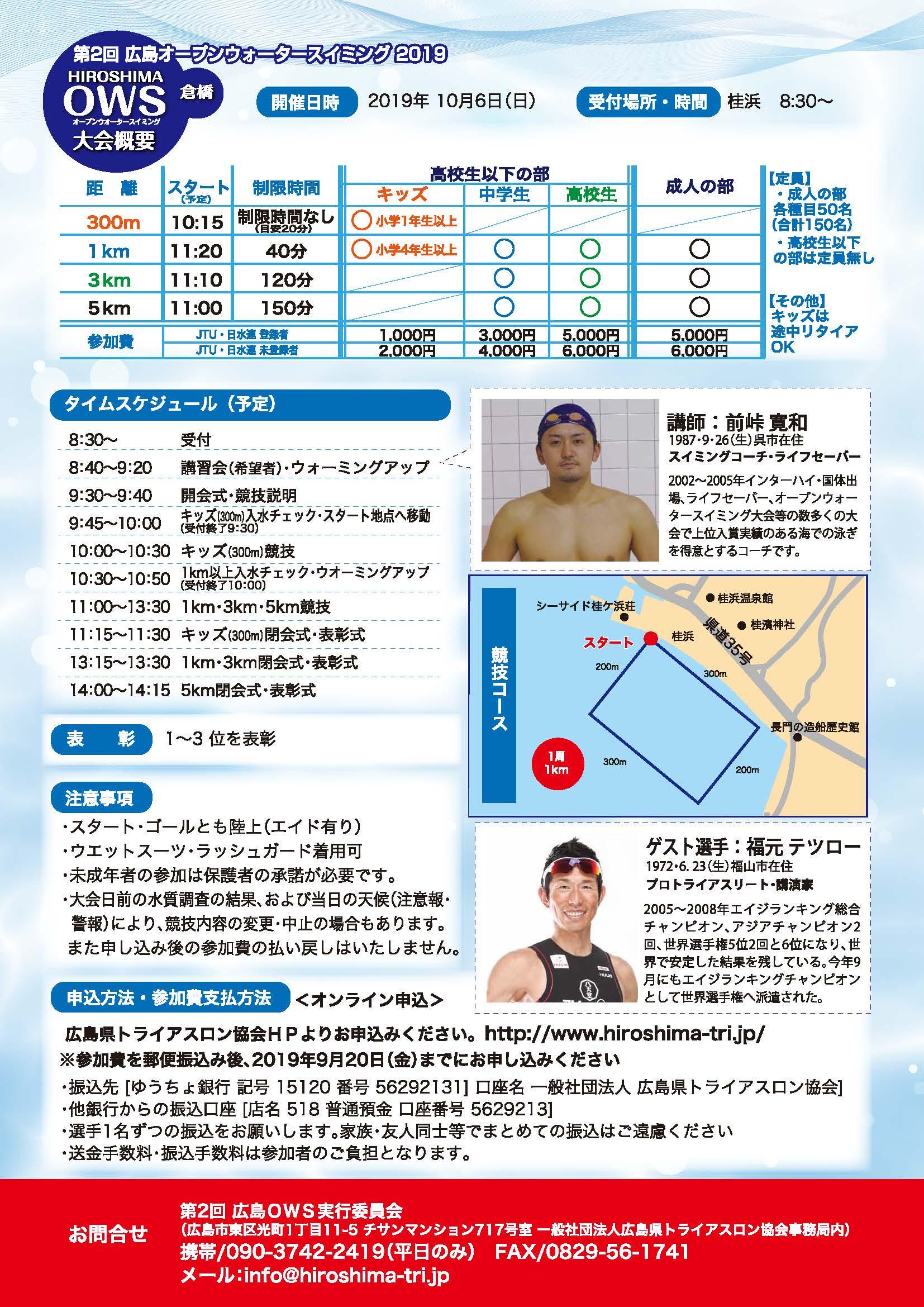 広島太田川オープンウォータースイミング大会概要2ページ